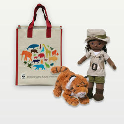 Wildlife ranger doll tiger plush adoption kit