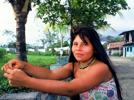 Member of the Emberá community