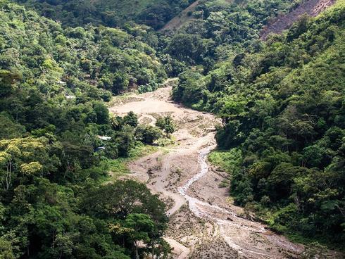 The floodplain of the Manchaguala River
