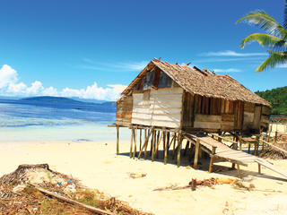 House in Bird's Head Seascape, West Papua, Indonesia