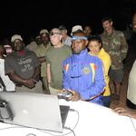 Namibian Ministry of Environment & Tourism wardens take turns operating the Falcon UAV in integrated systems demonstrations