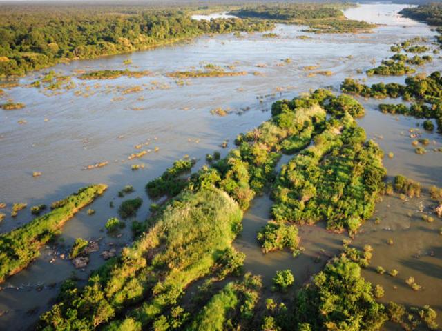 Mekong river aerial view
