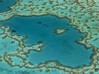 aerial great barrier reef