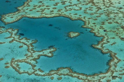 aerial great barrier reef