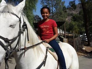 madison on horse