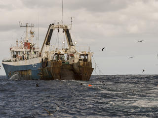 fishing vessel on open water