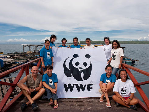 WWF expedition team pose with WWF Malaysia staff and volunteers