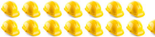 Hard hats representing how many jobs would be introduced into the economy with solar energy industry