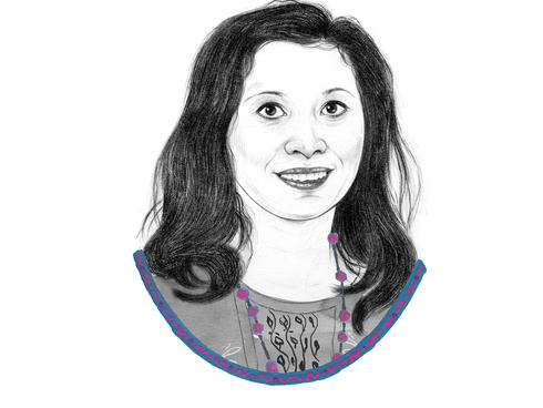 Illustrated portrait of Shikha Shrestha
