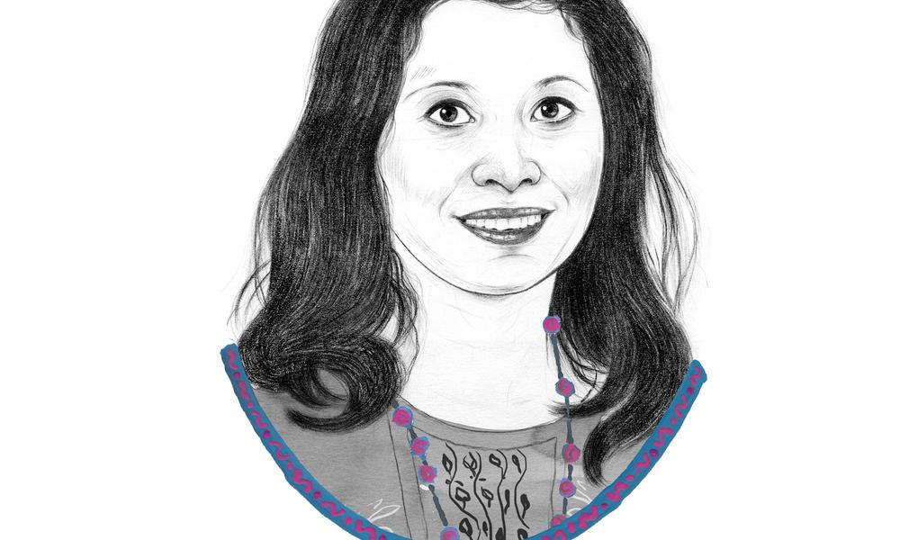Illustrated portrait of Shikha Shrestha