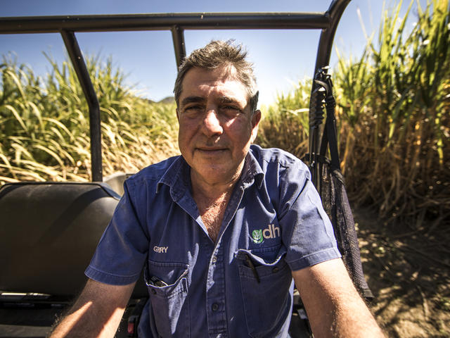 Gerry Deguara at his sugarcane plantation, Mackay, Queensland, Australia.