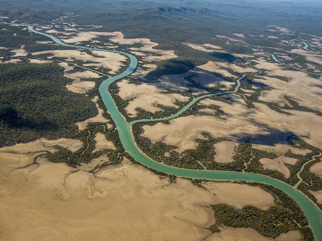 The Fitzroy Delta, Queensland, Australia.