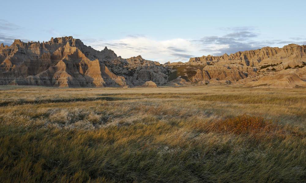 Landscape of Badlands National Park, South Dakota.