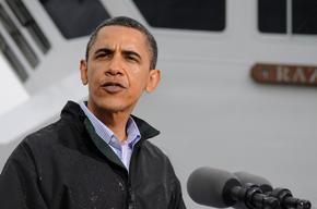 US President Barack Obama addresses the media