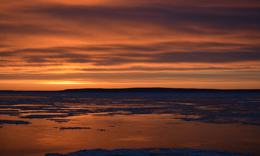 sun rising over bristol bay