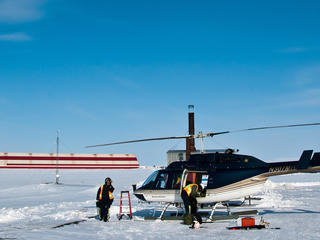 helicopter in alaska