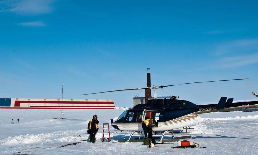 helicopter in alaska