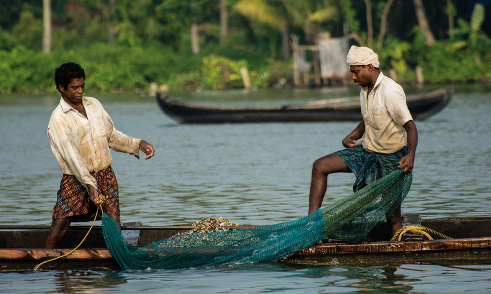 fishers with net