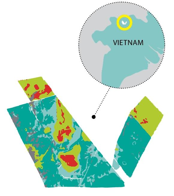 Tram Chim Hydrological map