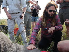 Jared Leto with Rhino