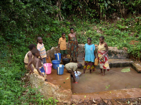 People in Cameroon in water