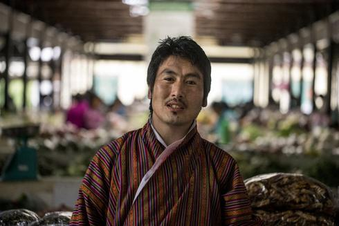 Sangay, who helps run a farmers' market in Bhutan