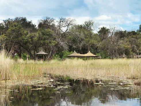 Camping site in Botswana