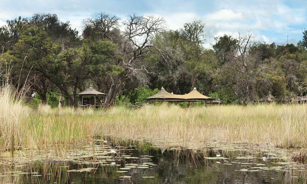 Camping site in Botswana