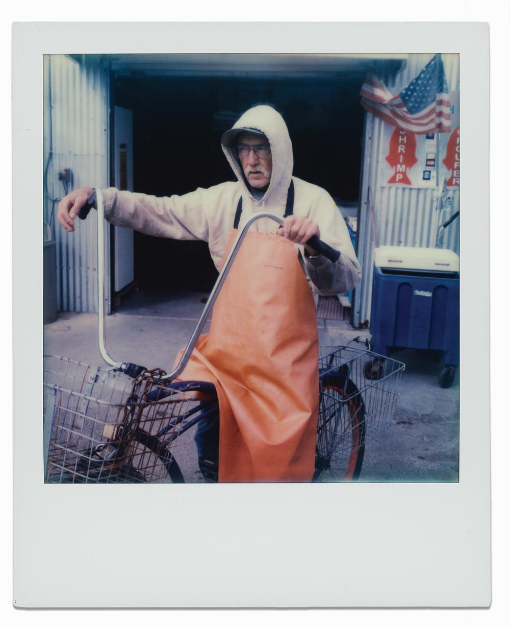 Employee Bill Reichenbach outside Katie's Seafood Market.