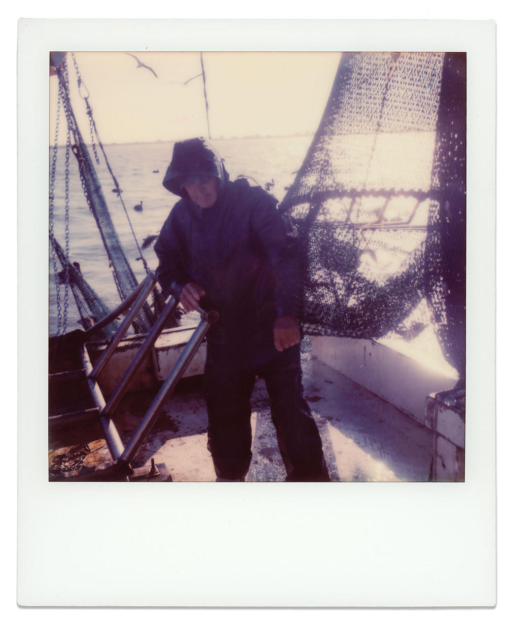 Miller, setting nets on the Sherry Diane.