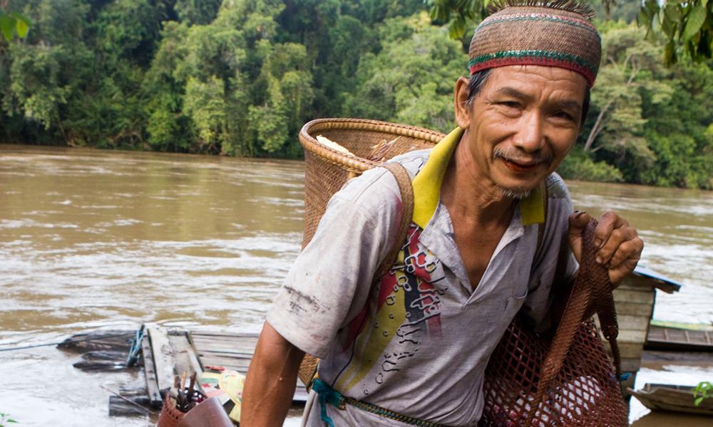 Borneo villager