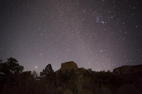 Night landscape at Big Bend National Park
