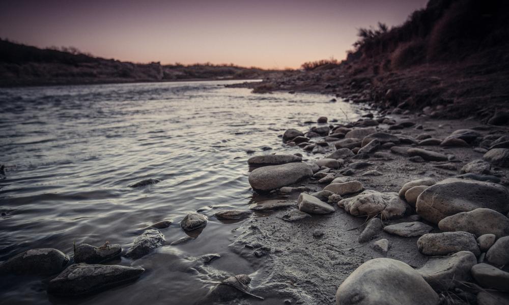 A portion of the Rio Grande's shore