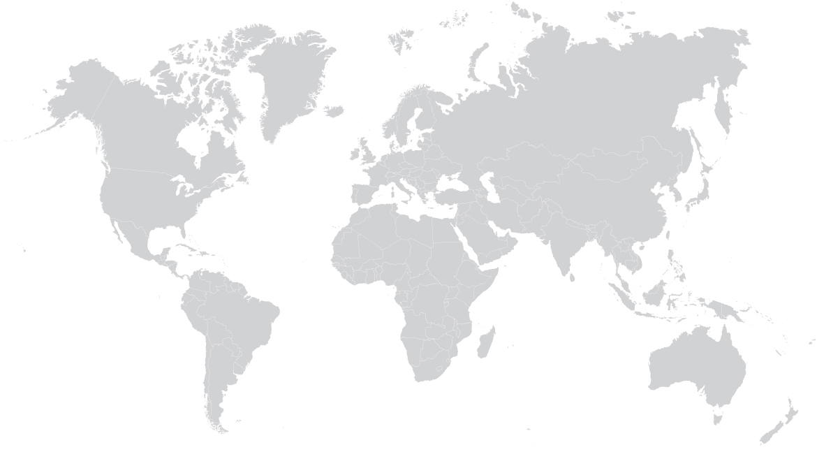 grey map of the world