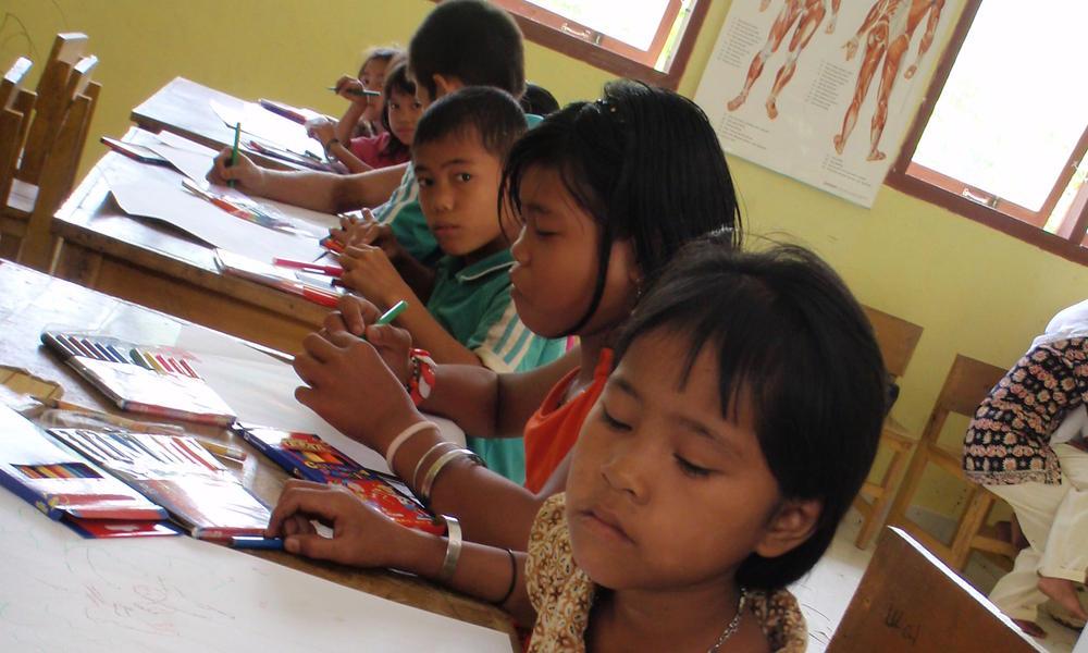 local school children in Thirty HIlls, Sumatra