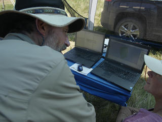 computers process data from drone