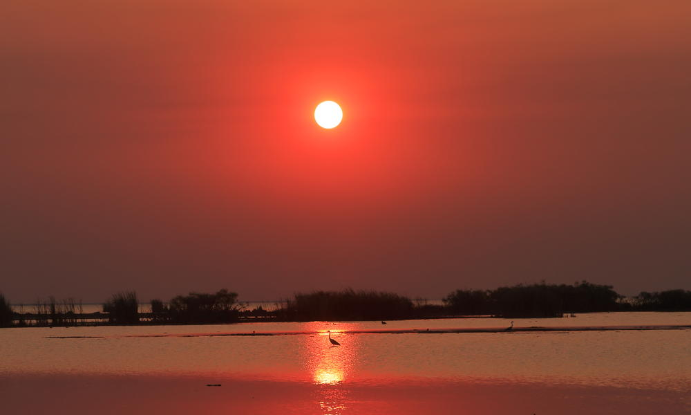 sunset in kafue