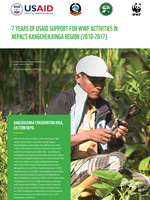 7 Years of USAID Support for WWF Activities in Nepal's Kangchenjunga Region (2010-2017) Brochure