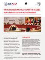 WWF Asia High Mountains Project Support for the Global Snow Leopard and Ecosystem Protection Program  Brochure
