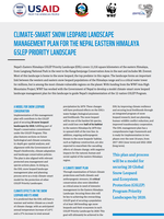 Climate-Smart Snow Leopard Landscape Management Plan for the Nepal Eastern Himalaya GSLEP Priority Landscape (Summary) Brochure