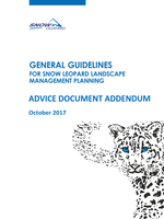 Advice Document Addendum to the General Guidelines for Snow Leopard Landscape Management Planning  Brochure