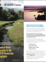 Toward Water Security for All: 2018 Highlights of The Coca-Cola Company and WWF Partnership Brochure