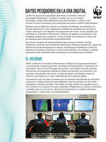 First Page of Status of Electronic Collection and Reporting of Key Information in Major Fisheries Summary Flyer (Spanish)