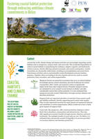 Cover for Blue Carbon Project Factsheet