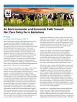 An Environmental and Economic Path Toward   Net Zero Dairy Farm Emissions Brochure
