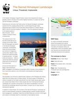 The Sacred Himalayan Landscape  Brochure