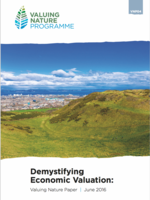 Demystifying Economic Valuation:  Valuing Nature Paper | June 2016 Brochure