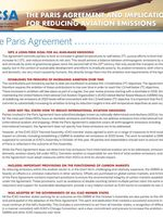 The Paris Agreement and Implications for Reducing Aviation Emissions Brochure