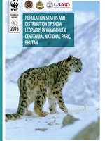 Population Status and Distribution of Snow Leopards in Wangchuck Centennial National Park, Bhutan Brochure