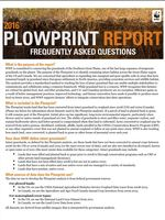 Plowprint Report: Frequently Asked Questions Brochure
